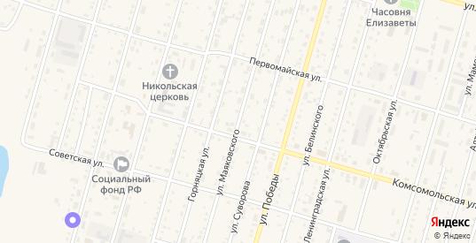 Улица Маяковского в Горняке с номерами домов на карте. Спутник и схема онлайн