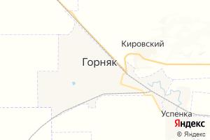 Карта г. Горняк Алтайский край