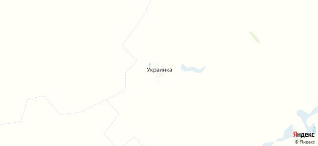 Украинка на карте