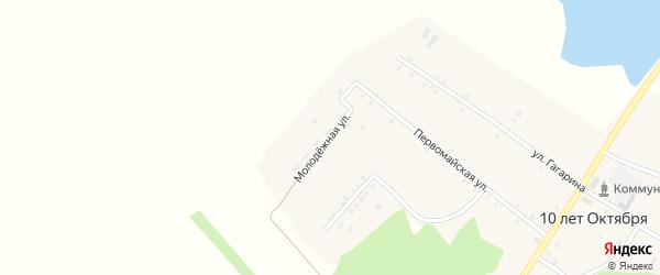 Молодежная улица на карте села 10 лета Октября с номерами домов