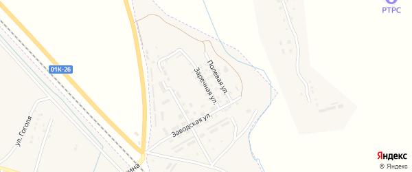 Заречная улица на карте Горняка с номерами домов