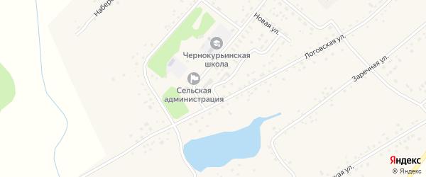 Советская улица на карте села Черной Курьи с номерами домов