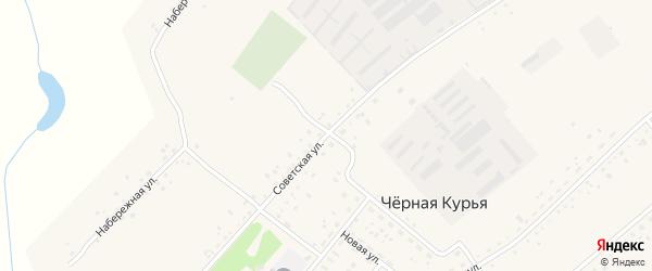 Советская улица на карте села Черной Курьи Алтайского края с номерами домов