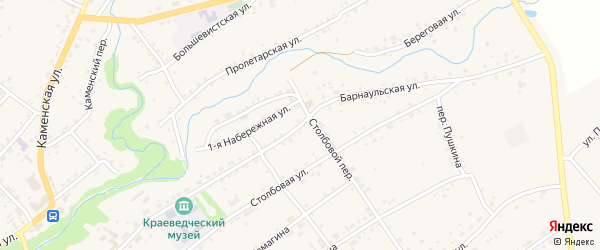 Барнаульская улица на карте села Тюменцево с номерами домов