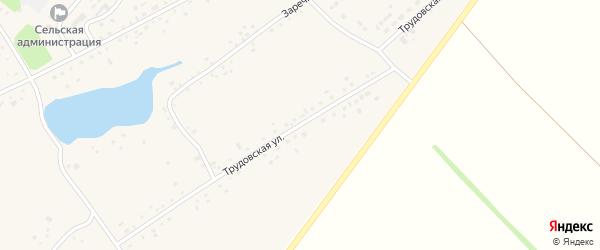 Трудовская улица на карте села Черной Курьи Алтайского края с номерами домов