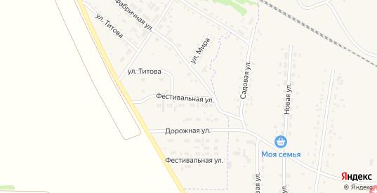 Фестивальная улица в Горняке с номерами домов на карте. Спутник и схема онлайн