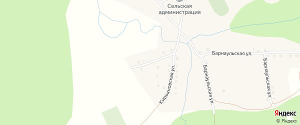 Кирьяновская улица на карте села Аллака с номерами домов