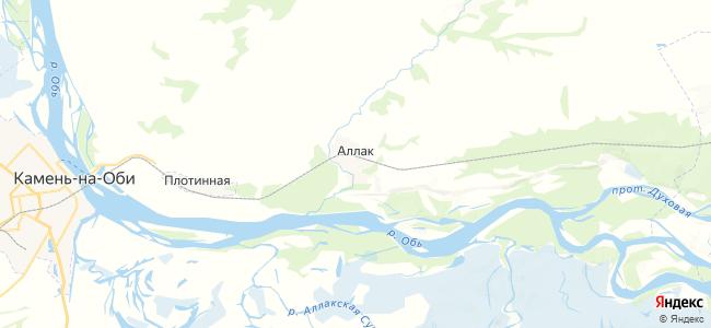 Аллак на карте