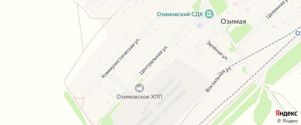 Центральная улица на карте Озимой станции с номерами домов