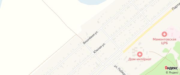 Вишнёвая улица на карте села Мамонтово с номерами домов