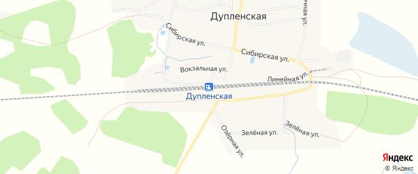 Карта Дупленской станции в Новосибирской области с улицами и номерами домов