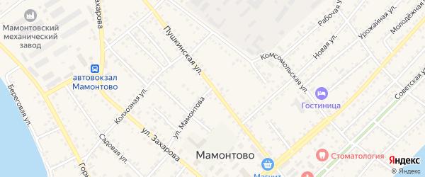 Пушкинская улица на карте села Мамонтово Алтайского края с номерами домов