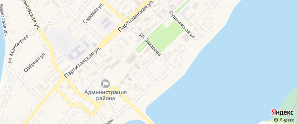Центральный переулок на карте села Мамонтово с номерами домов