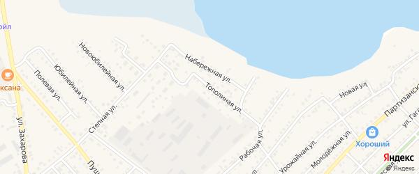 Тополиная улица на карте села Мамонтово Алтайского края с номерами домов