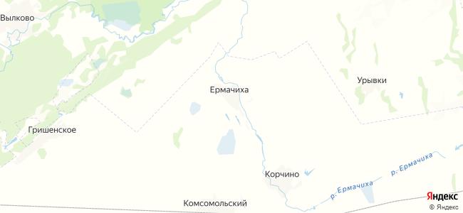 Ермачиха на карте