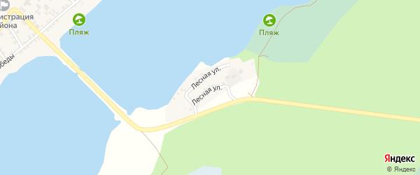 Лесная улица на карте села Мамонтово Алтайского края с номерами домов