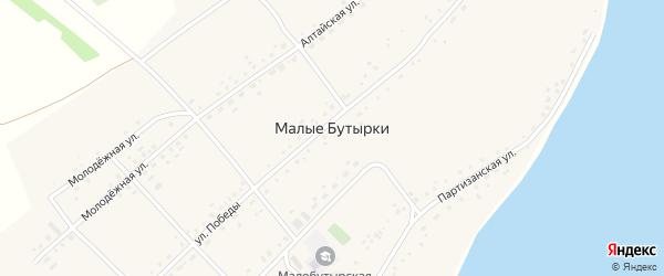 Магистральная улица на карте села Малых Бутырки с номерами домов