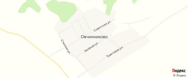 Карта деревни Овчинниково в Новосибирской области с улицами и номерами домов