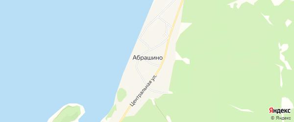 Карта деревни Абрашино в Новосибирской области с улицами и номерами домов