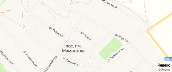 Улица Зорге на карте поселка им Мамонтова с номерами домов
