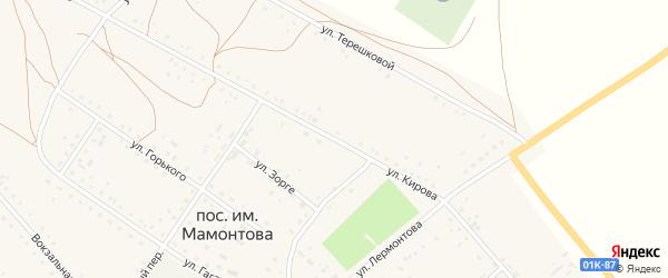 Улица Кирова на карте поселка им Мамонтова с номерами домов