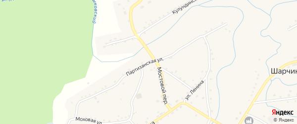 Партизанская улица на карте села Шарчино с номерами домов