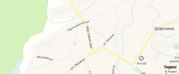 Мостовой переулок на карте села Шарчино Алтайского края с номерами домов