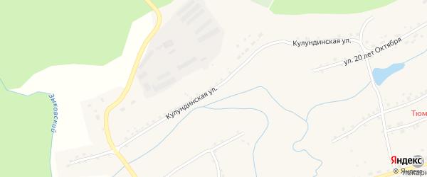 Кулундинская улица на карте села Шарчино Алтайского края с номерами домов