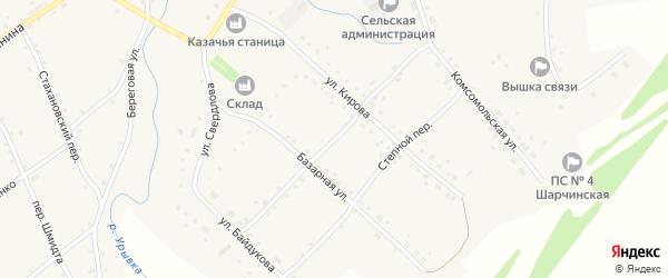 Переулок Леваневского на карте села Шарчино с номерами домов