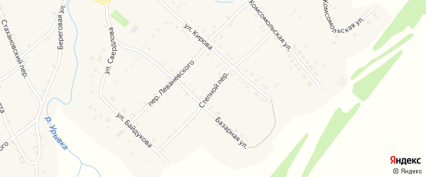 Степной переулок на карте села Шарчино с номерами домов