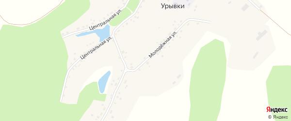 Молодёжная улица на карте села Урывки с номерами домов
