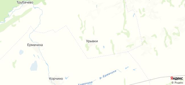 Урывка на карте