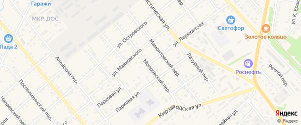 Улица Лермонтова на карте села Поспелихи Алтайского края с номерами домов