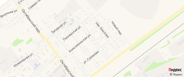 Переулок Калинина на карте села Поспелихи с номерами домов
