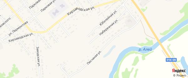 Набережная улица на карте села Поспелихи Алтайского края с номерами домов