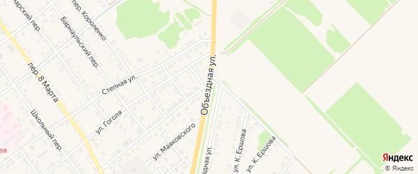 Объездная улица на карте села Поспелихи Алтайского края с номерами домов