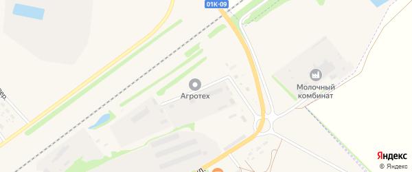 Промышленный переулок на карте села Поспелихи с номерами домов