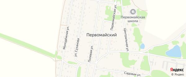 Полевая улица на карте Первомайского поселка с номерами домов