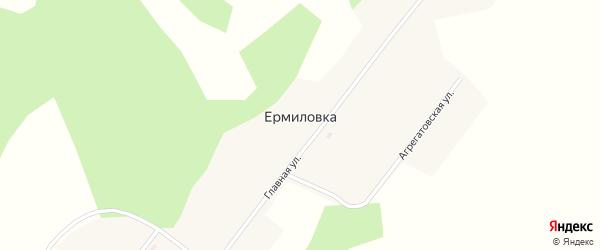 Главная улица на карте деревни Ермиловки Новосибирской области с номерами домов
