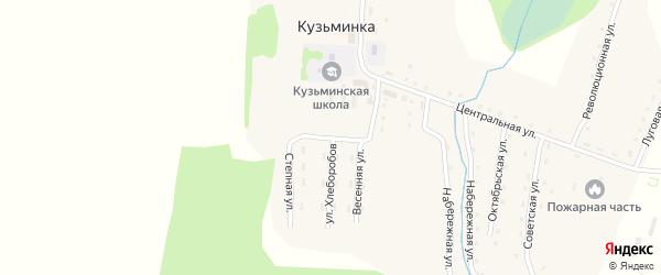 Школьная улица на карте села Кузьминки с номерами домов