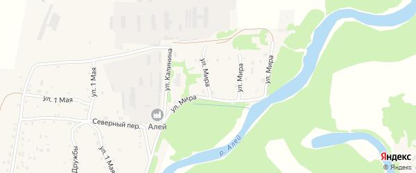 Улица Мира на карте Староалейского села Алтайского края с номерами домов