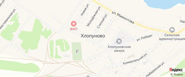 Нагорная улица на карте села Хлопуново с номерами домов