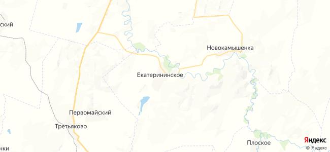 Екатерининское на карте