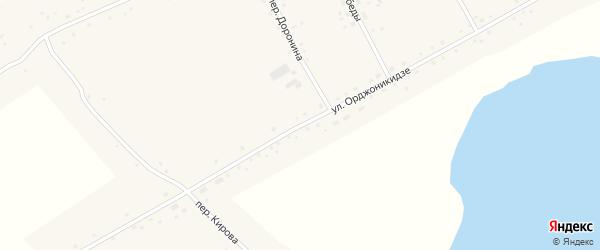 Улица Орджоникидзе на карте Подстепного села с номерами домов