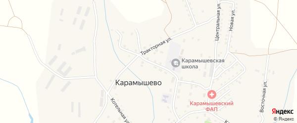 Школьная улица на карте села Карамышево с номерами домов