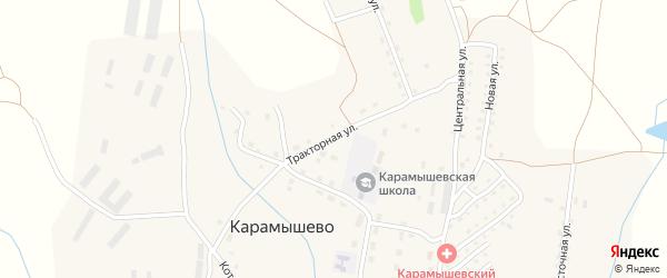 Тракторная улица на карте села Карамышево с номерами домов