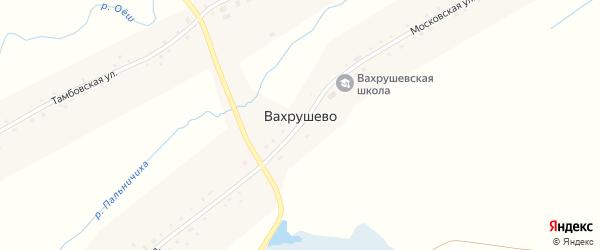 Искринская улица на карте деревни Вахрушево Новосибирской области с номерами домов
