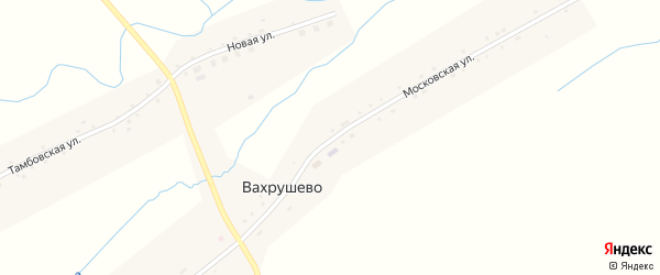 Московская улица на карте деревни Вахрушево Новосибирской области с номерами домов