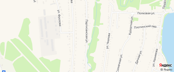 Партизанская улица на карте Змеиногорска с номерами домов
