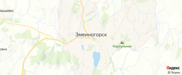 Карта Змеиногорска с районами, улицами и номерами домов